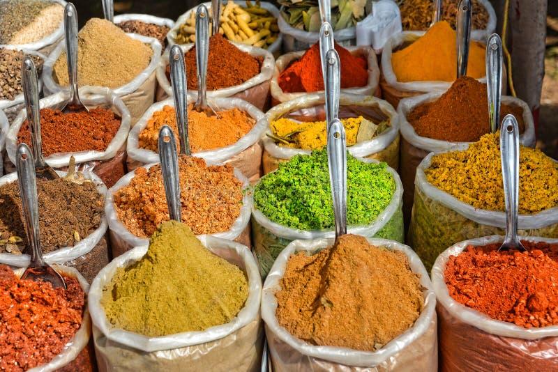 Индийские специи на рынке в Anjuna стоковое фото rf