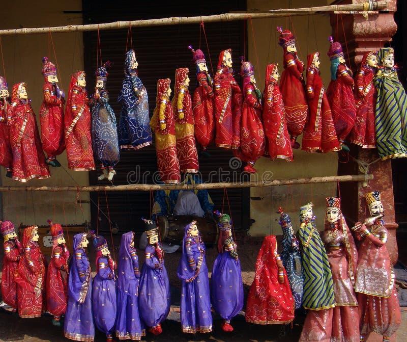 Индийские handmade марионетки строки Раджастхана, Индии стоковое фото rf