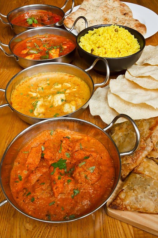 Индийский выбор кухни стоковые изображения