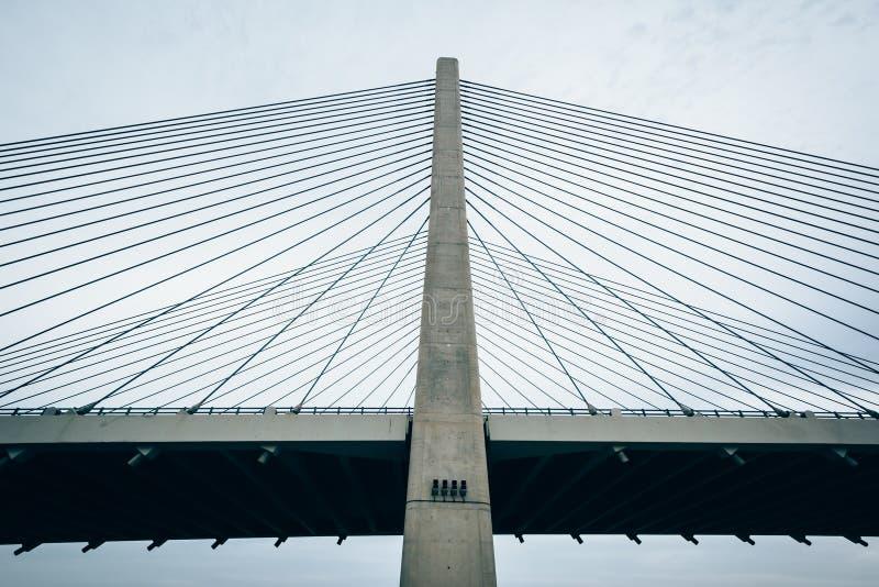 Индийский мост реки около пляжа Bethany, Делавера стоковая фотография rf