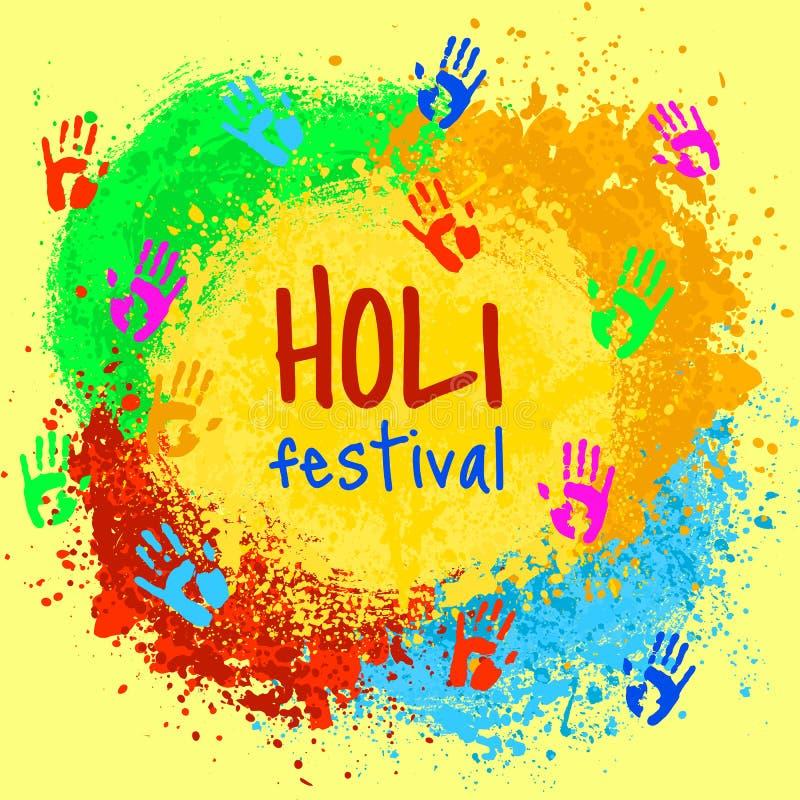 Индийский праздник Holi иллюстрация штока