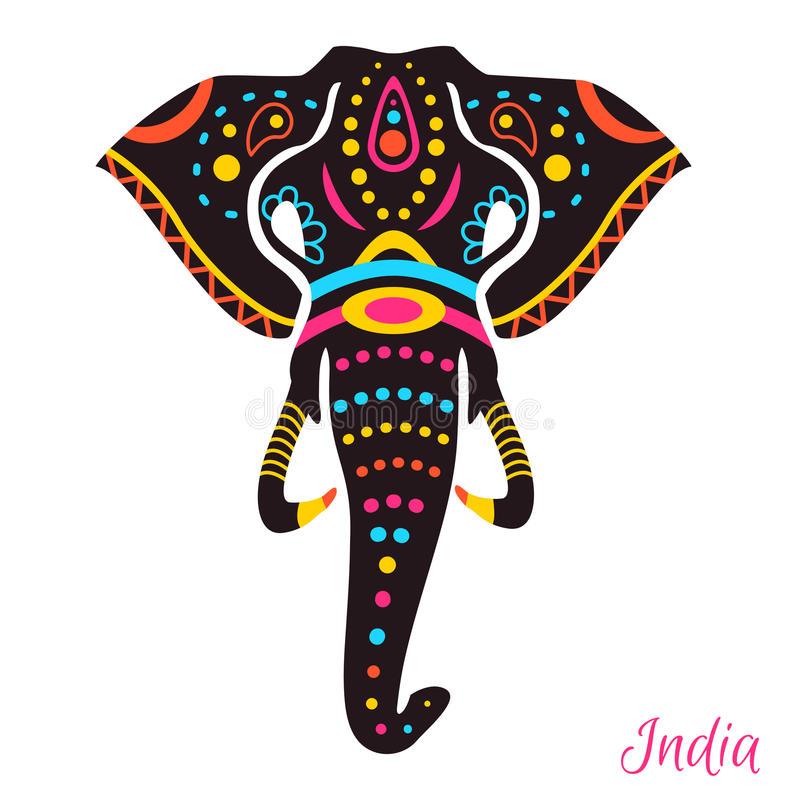 Индийский слон иллюстрация вектора