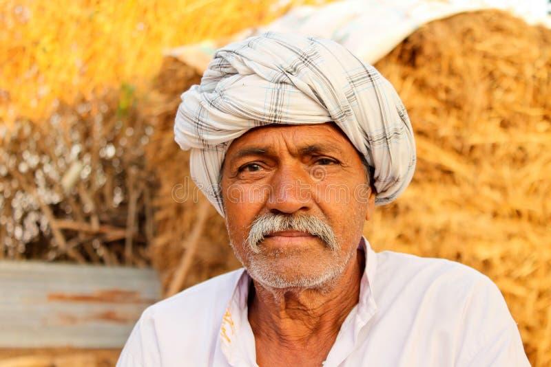 Индийский фермер - Индия стоковая фотография rf
