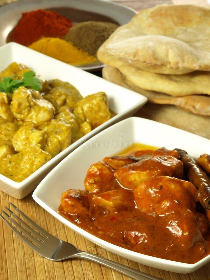 Индийский цыпленок карри стоковые фотографии rf