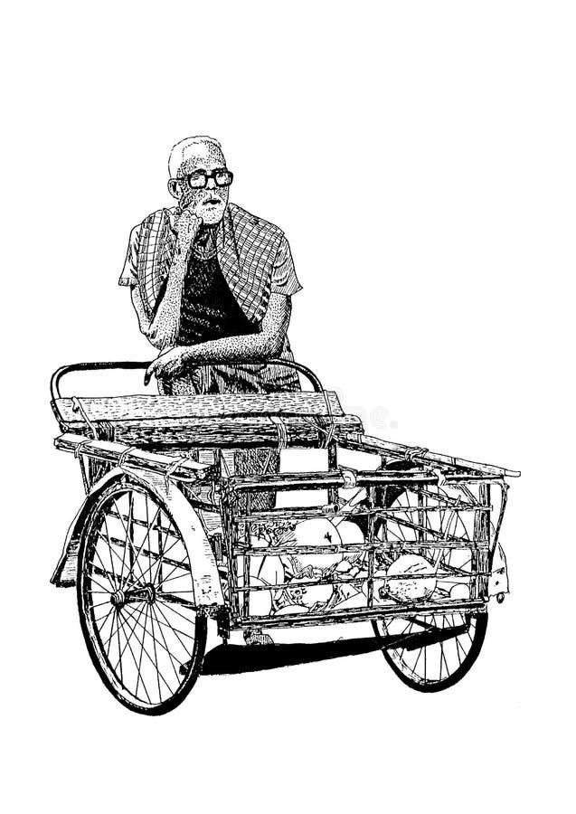 Индийский человек на работе 2 иллюстрация вектора