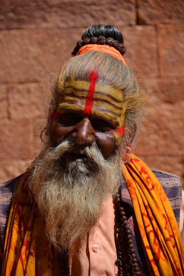 Индийское гуру Jaisalmer Раджастхан Индия стоковое фото rf