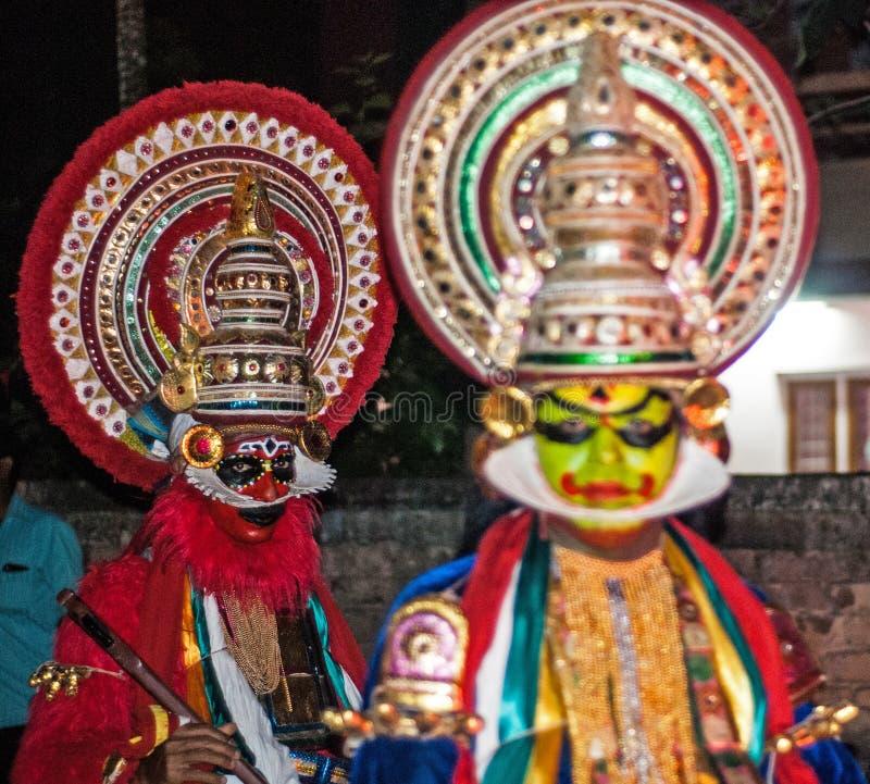 Индийское искусство Kathakali стоковое изображение