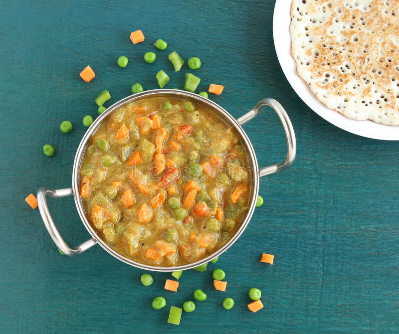 Индийское карри овоща еды стоковое изображение