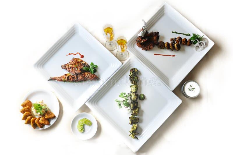 Индийское основное блюдо еды стоковое изображение