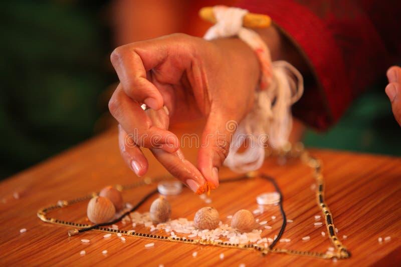 индийское ритуальное венчание стоковые изображения rf