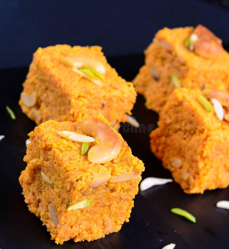 Индийское сладостное Gajar Halwa стоковое изображение