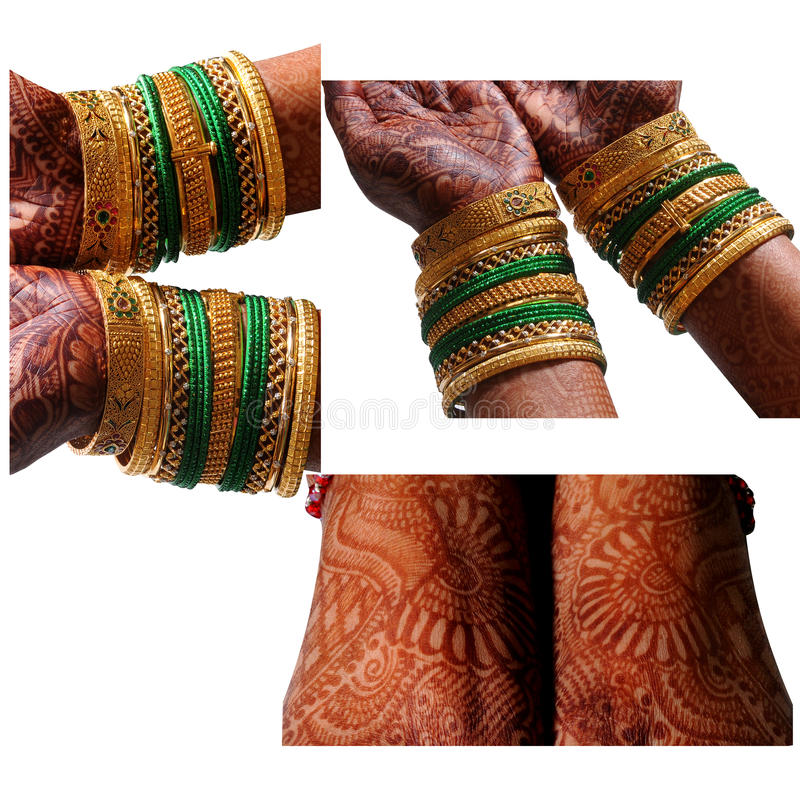Индийское Bridal mehndi стоковая фотография rf