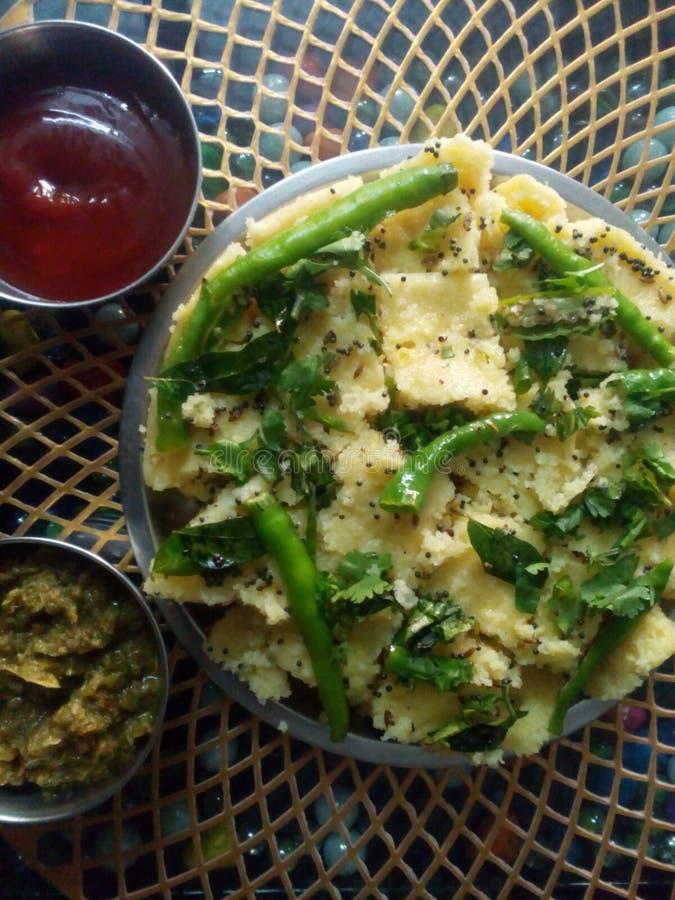 Индийское khamand рецепта стоковое изображение