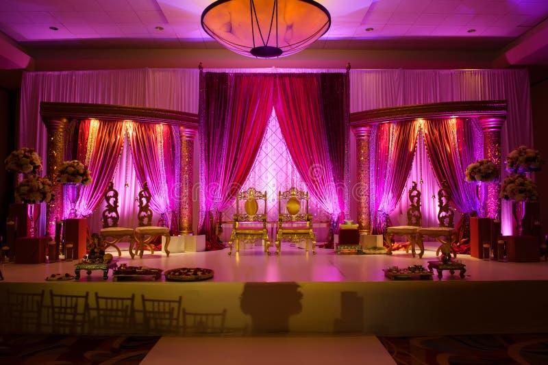 Индийское mandap венчания стоковые фото