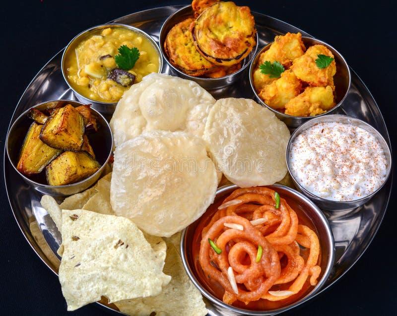 Индийское Thali стоковые фотографии rf