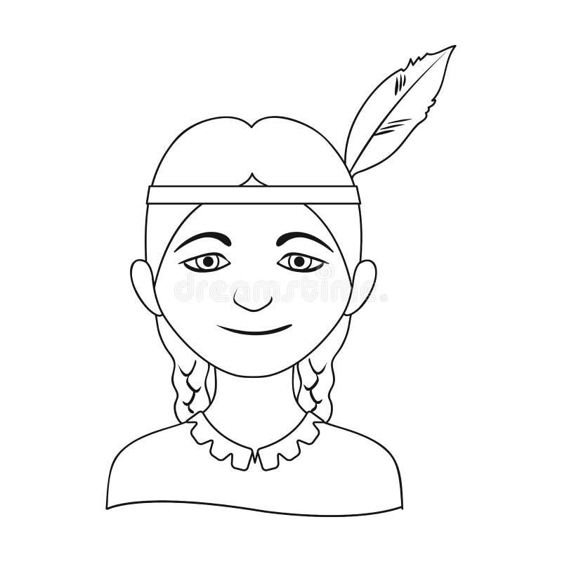 индийско Значок человеческого общества одиночный в сети иллюстрации запаса символа вектора стиля плана иллюстрация штока