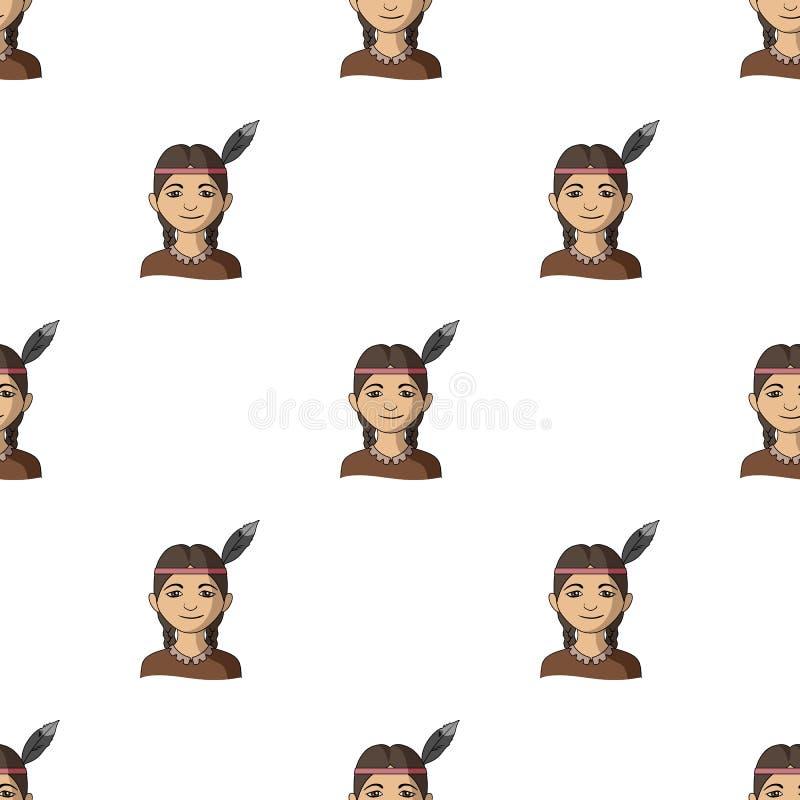 индийско Значок человеческого общества одиночный в сети иллюстрации запаса символа вектора стиля шаржа бесплатная иллюстрация