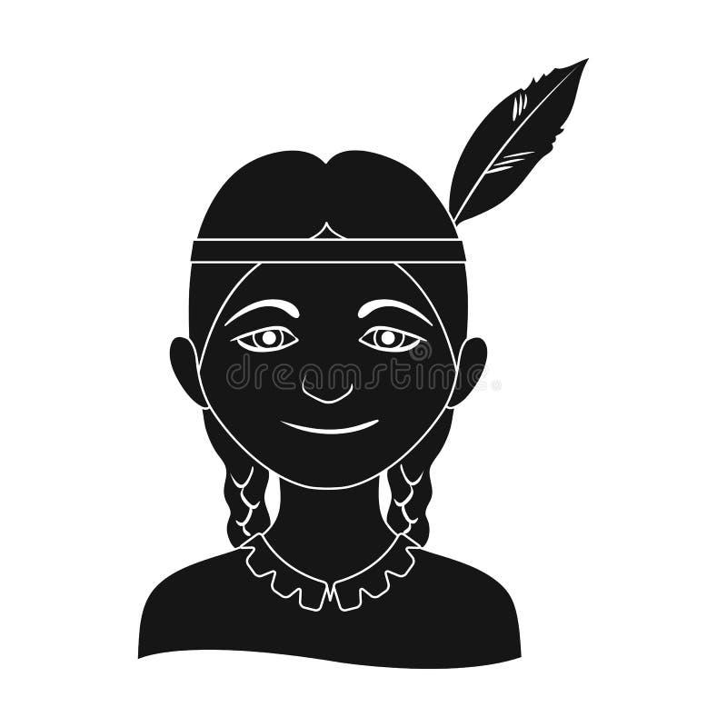 индийско Значок человеческого общества одиночный в черной сети иллюстрации запаса символа вектора стиля иллюстрация вектора