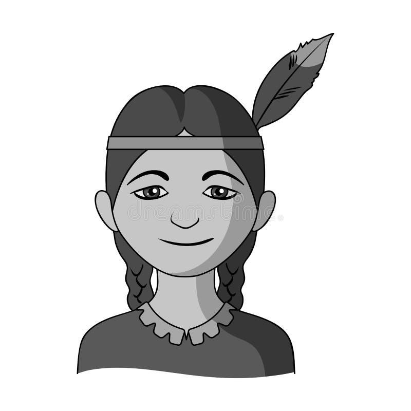 индийско Значок человеческого общества одиночный в monochrome сети иллюстрации запаса символа вектора стиля бесплатная иллюстрация