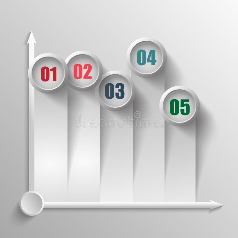 Индикаторы представления данных шаблона вектора бесплатная иллюстрация