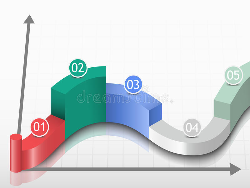 Индикаторы представления данных шаблона вектора иллюстрация штока