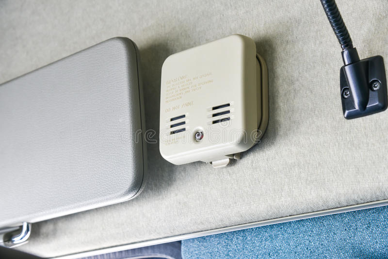 Индикатор дыма в кабине стоковое фото rf