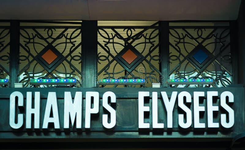 Индикатор Champs-Elysees в Париже стоковое фото rf