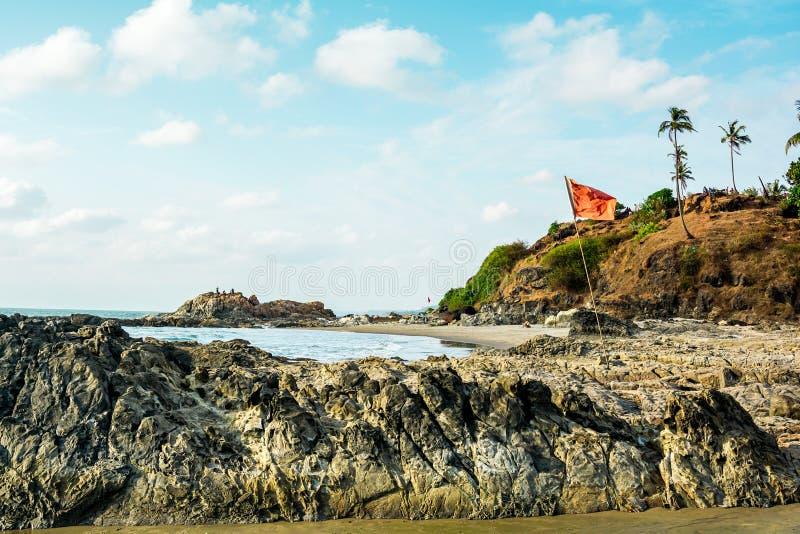 Индия, Goa, пляж Vagator стоковое изображение