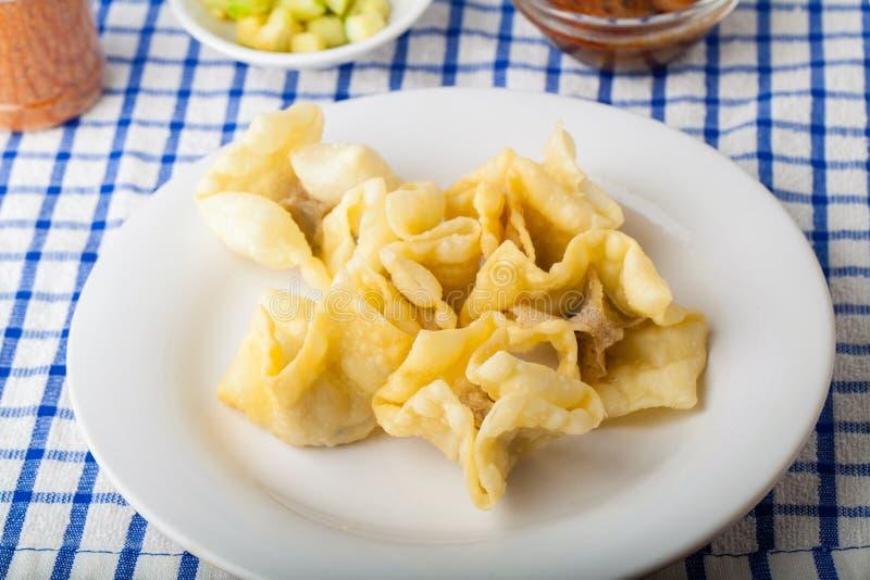 Индонезийская еда Batagor Pangsit стоковые фото