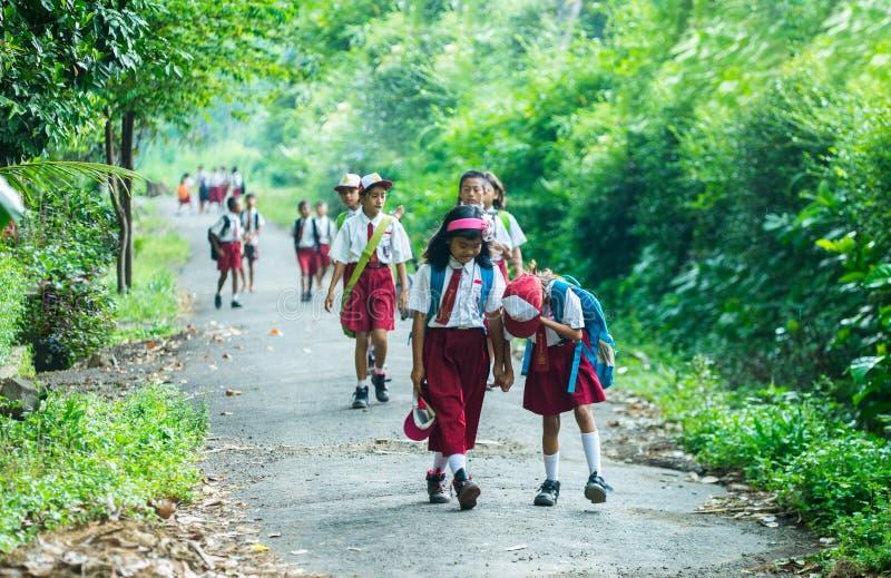Индонезийские студенты начальной школы стоковая фотография
