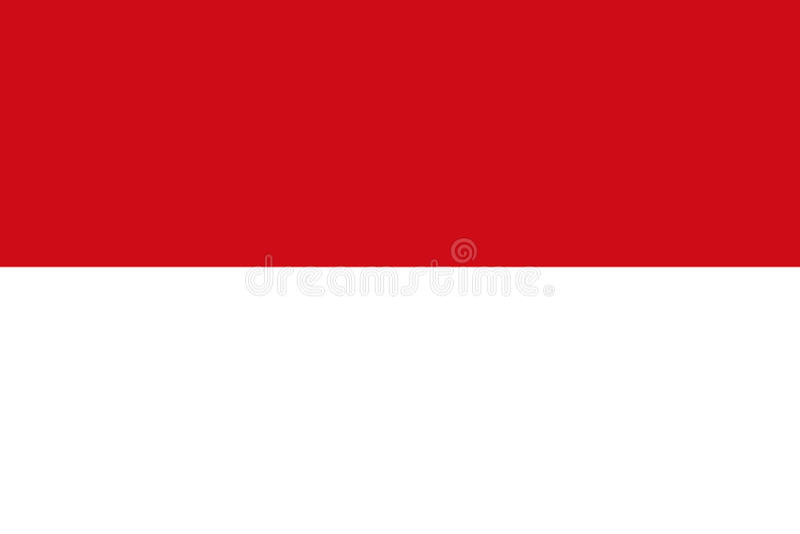 Индонезийский флаг, плоский план, иллюстрация иллюстрация штока