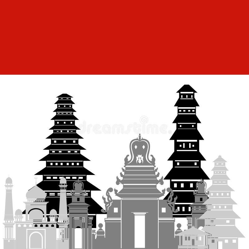 Индонезия иллюстрация штока