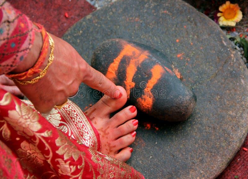 Индусские ритуалы свадьбы стоковое фото rf