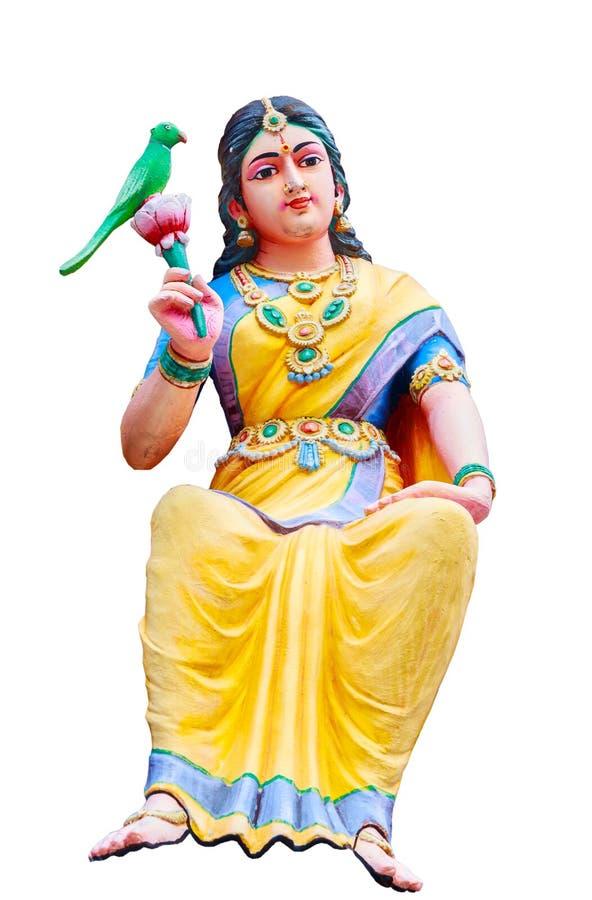 Индусские статуи бога на индусском виске в изолированный стоковые фотографии rf