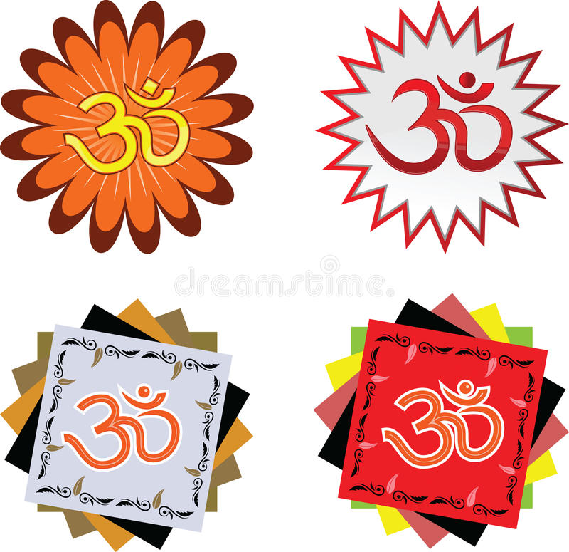 Индусский ОМ символа вероисповедания бесплатная иллюстрация