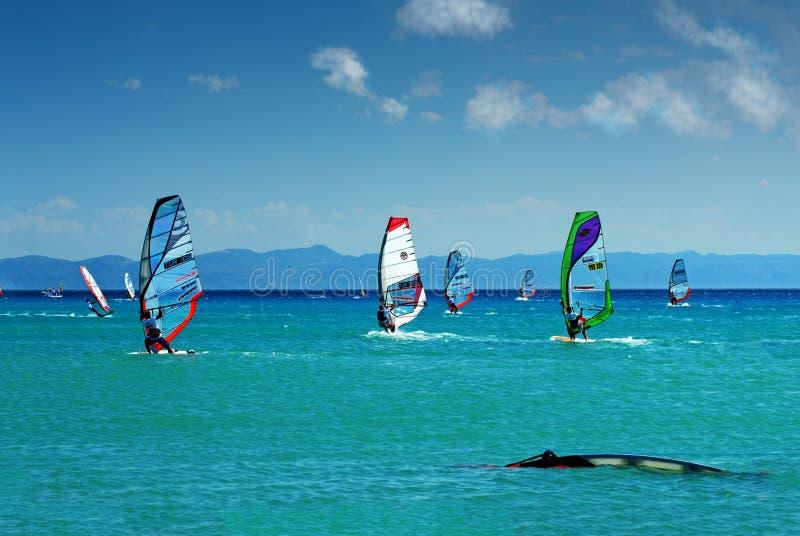 21.08.2010 - индюк августовский, turkish erikli windsurf этап erikli чемпионата в августе 2010 стоковое фото