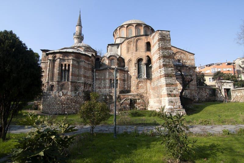 индюк istanbul церков chora стоковое изображение rf