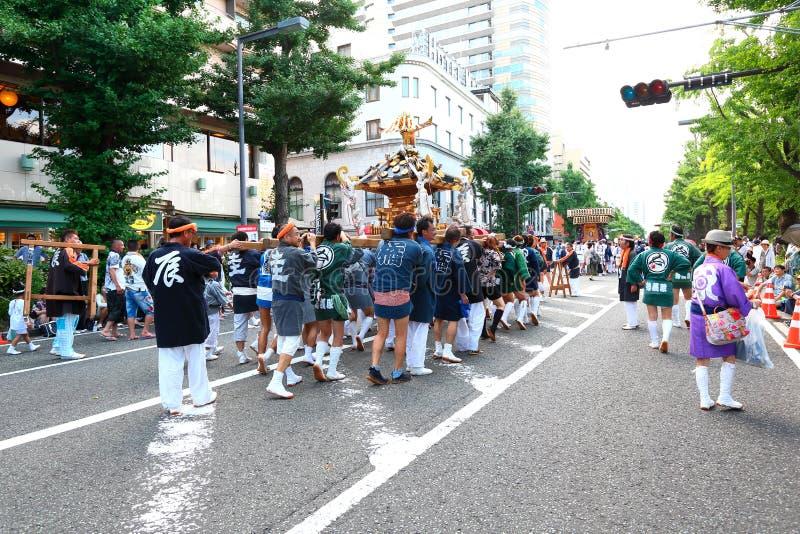 Иокогама: Сверкная сумерк стоковая фотография