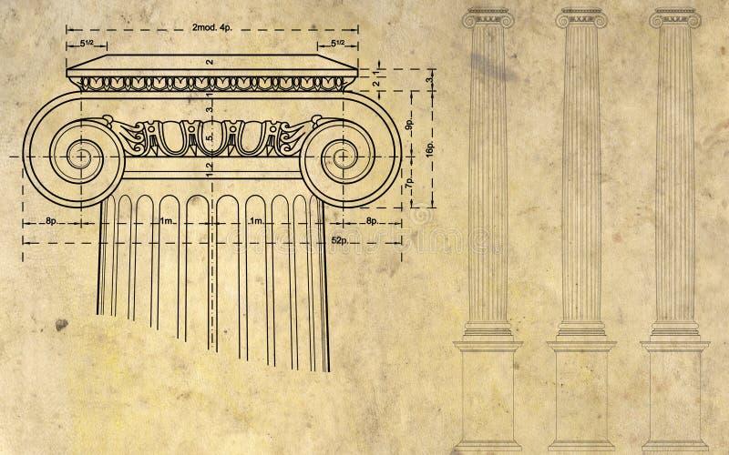 Download Ионный столбец иллюстрация штока. иллюстрации насчитывающей постамент - 33739359