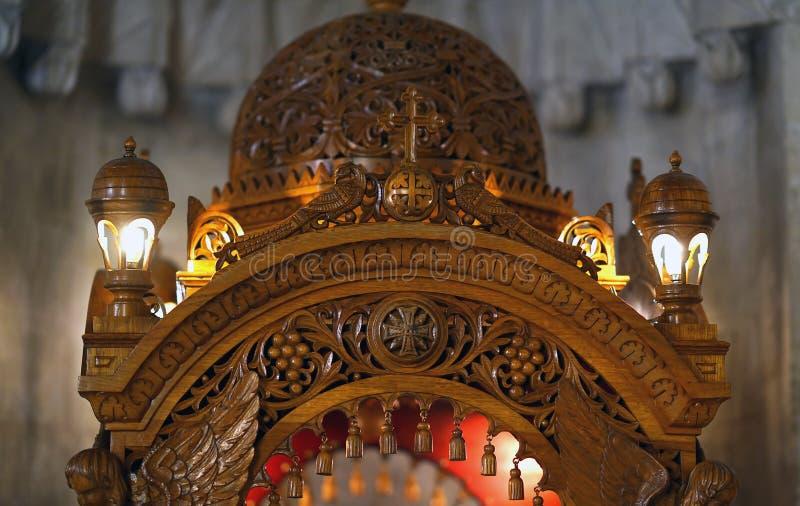 Ираклион, Греция, 25-ое сентября 2018, собор мин ажио & x28; Святой Minas& x29; в Creete, деталь стоковое изображение rf
