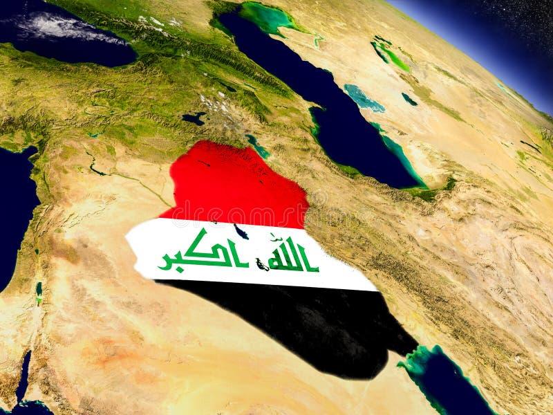 Download Ирак с врезанным флагом на земле Иллюстрация штока - иллюстрации насчитывающей borgia, наука: 81801532