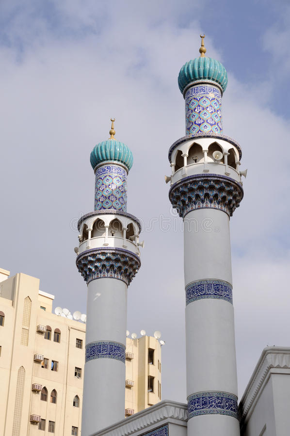 иранская мечеть минаретов стоковое изображение