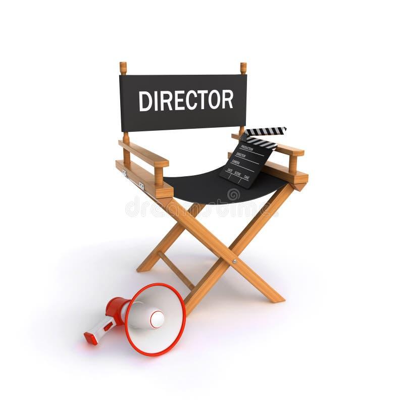 директор s стула иллюстрация вектора