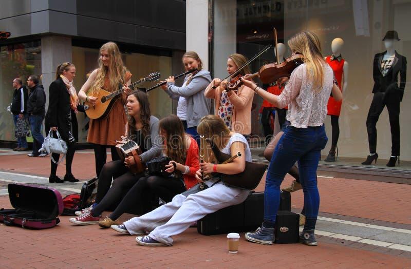 Ирландские музыканты улицы стоковое изображение rf
