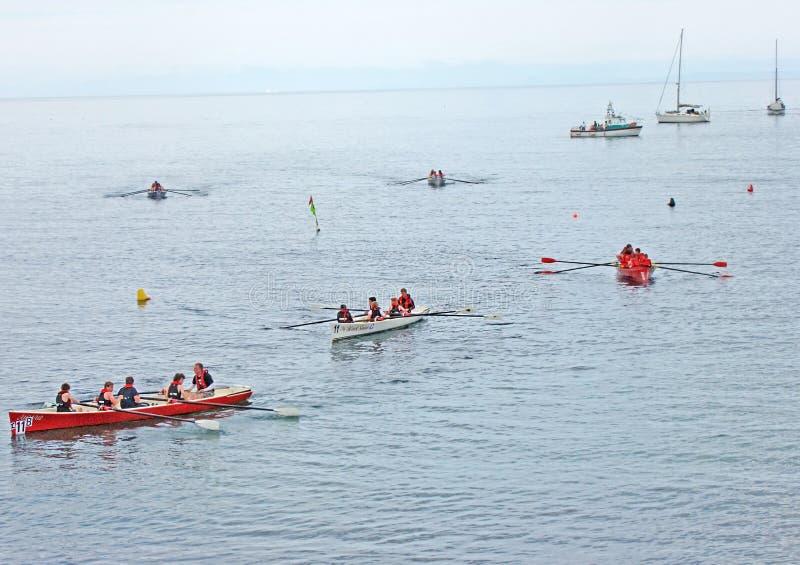 Ирландские прибрежные гребя чемпионаты Carnlough Co Антрим стоковые изображения