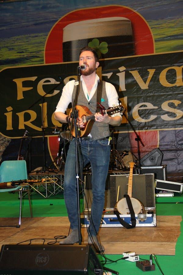 Ирландский игрок bouzouki Kilkennys стоковое изображение rf