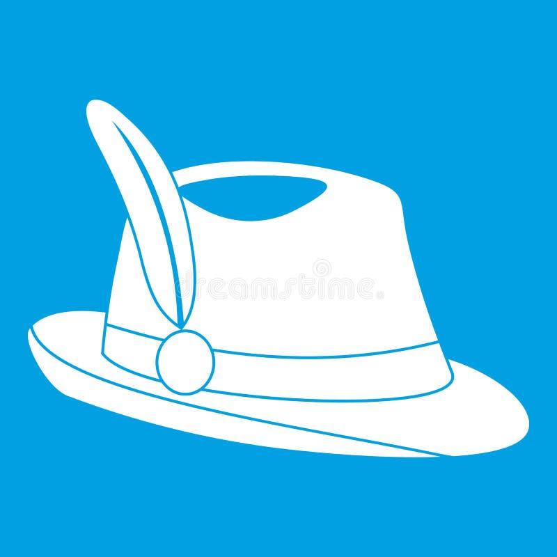 Ирландская белизна значка шляпы иллюстрация штока