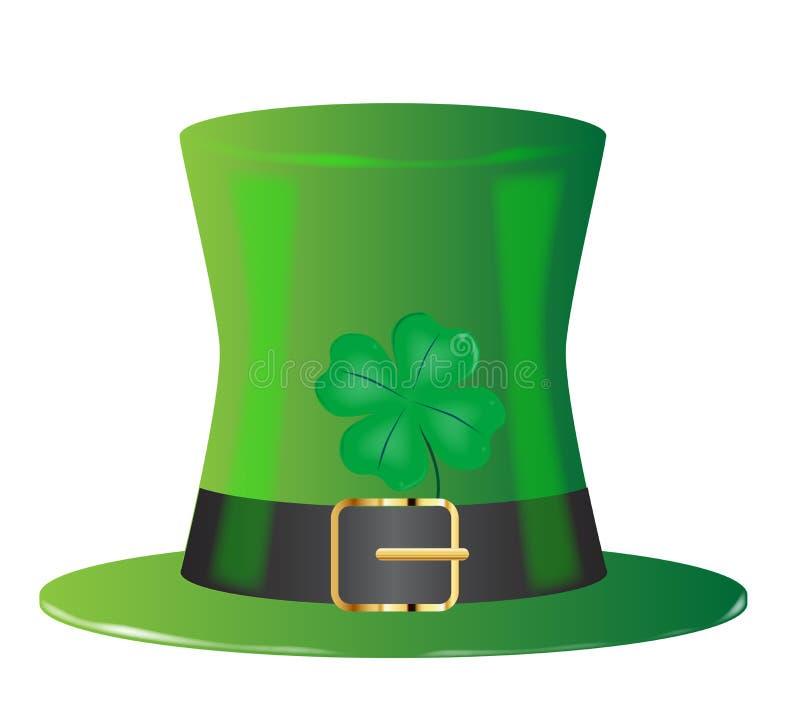 Ирландская зеленая верхняя шляпа иллюстрация штока