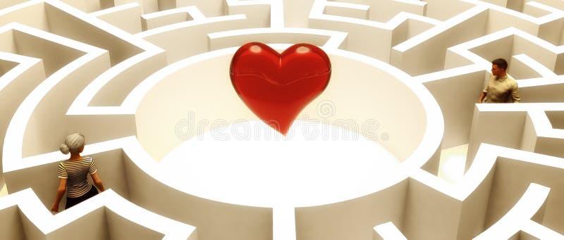 Искать влюбленность иллюстрация вектора