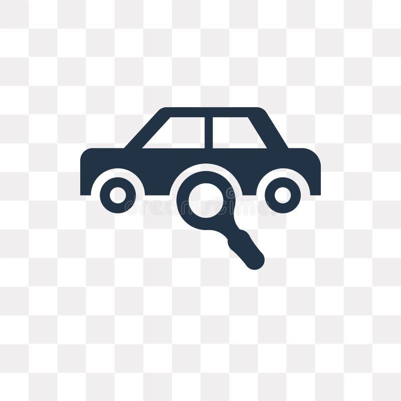 Искать для значка вектора автомобиля изолированного на прозрачной предпосылке бесплатная иллюстрация